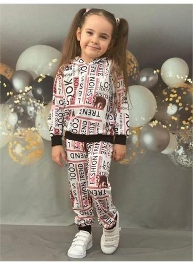 Riccotarz Kız Çocuk Look Fashion Karışık Eşofman Takım Beyaz
